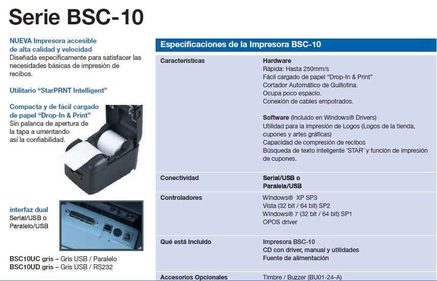 Ticketera Termica Star Bsc 10 Usb Y Serial Peru Lima